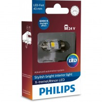 Λάμπα Philips Festoon X-Treme Ultinon Led 43mm 6000K 24V 1W 1τμχ