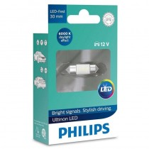 Λάμπα Philips Τύπου C5W 30mm Ultinon Led 6000K 12V 0.6W 1τμχ