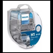 Λάμπες Philips H1 12V 55W White Vision Ultra έως 4000K και 60% Περισσ. Φως 2Τμχ