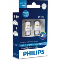 Λάμπες Philips T10 X-Treme Ultinon Led 4000K 12V 1W 2τμχ