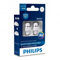 Λάμπες Philips T10 X-Treme Ultinon Led 6000K 12V 1W 2τμχ