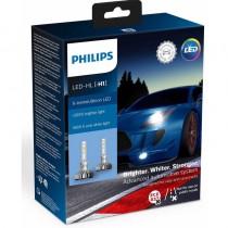 Λάμπες Philips Τύπου H1 X-Treme Ultinon Led 12V 20W +200% Περισσότερο Φως 5800K 2Τμχ