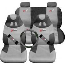 Καλύμματα καθισμάτων 8τχμ Σετ X-SPEED 3 ΣΕ 1 Γκρί