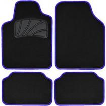 Μοκέτα Πατάκι Σέτ 4τμχ Classic Colors Με Ρέλι  Μαύρο Μπλέ