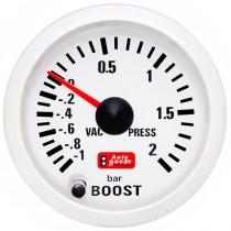 Όργανο Auto Gauge Μπαρόμετρο Λευκό 7 Colors
