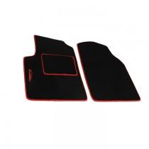 Μοκέτα Πατάκια Evolution Carpower Μπροστινά 2τμχ Μαύρο-Κόκκινο