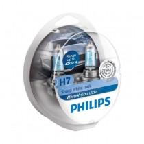 Λάμπες PHILIPS H7 White Vision Ultra 12V 55W(Sharp White Look) εως 4200Κ +2 W5W 2τμχ