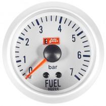Όργανο Auto Gauge Πίεση Βενζίνης Λευκό 7 Colors