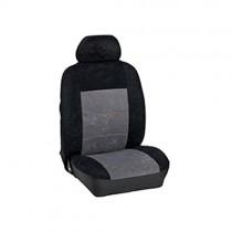 Κάλυμμα Alcantara Καθισμάτων Μαρκέ Μαύρο-Γκρί