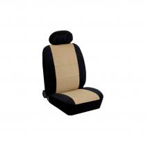 Κάλυμμα Alcantara Καθισμάτων Μαρκέ Μαύρο-Μπεζ
