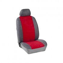 Κάλυμμα Alcantara Καθισμάτων Μαρκέ Γκρι-Κόκκινο