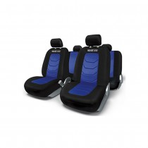 Κάλυμμα Καθισμάτων Πλήρες Sparco Polyester Mesh Spc1019Az Μαύρο-Μπλε