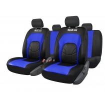 Κάλυμμα Kαθισμάτων Πλήρες Sparco Δερματίνη Spc3500 Μαύρο-Μπλέ