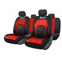 Κάλυμμα Kαθισμάτων Πλήρες Sparco Δερματίνη Spc3500 Μαύρο-Κόκκινο