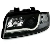 Φανάρια εμπρός μαύρα Led Lightbar Design για Audi A4 B6 (2001-2004)