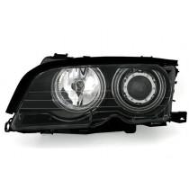 Φανάρια εμπρός μαύρα Angel Eyes με CCFL για BMW E46 Sedan (2001-2005)