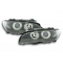 Φανάρια εμπρός μαύρα Angel Eyes για BMW E46 Eoupe και Cabrio (1999-2003)