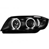 Φανάρια εμπρός μαύρα Angel Eyes για BMW E90(2005-2009)