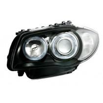 Φανάρια εμπρός Angel Eyes μαύρα για BMW E87 (2004-2007)